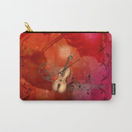 Music, violin with violin bow Carry-All Pouch