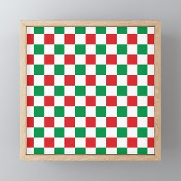 Christmas Gingham (red/green) Framed Mini Art Print