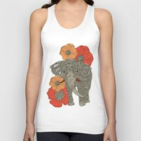 shower Tank Tops featuring The Elephant by Valentina Harper