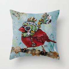 Cardinal Blaze Throw Pillow
