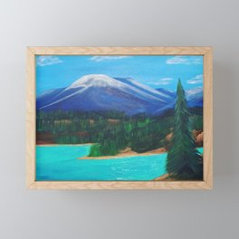 Emerald Lake, Yukon Framed Mini Art Print