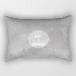Ride A Unicorn Rectangular Pillow