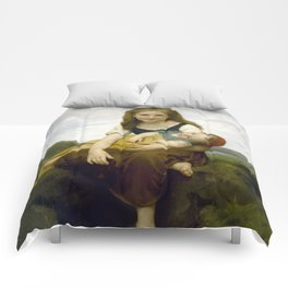 William Bouguereau - The Elder Sister, 1869 Comforters