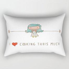 I love cooking girl Rectangular Pillow