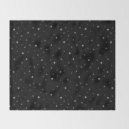 Tiny Stars Dark Throw Blanket