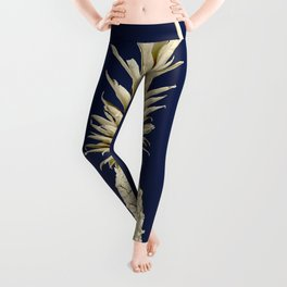 Pineapple Pineapple Gold on Navy Blue Leggings
