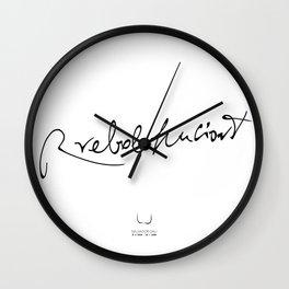 RREBOLHUCIONT Wall Clock