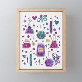 Galaxy Potions - Purple Palette Framed Mini Art Print