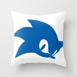 Sonic Blue Hedgehog Sillhoutte Throw Pillow