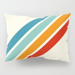 Alator - Classic 70s Retro Summer Stripes Pillow Sham