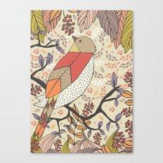 Singing Red Bird Canvas Print