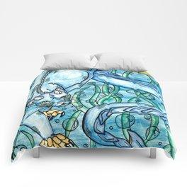 Underwater Panther Comforters