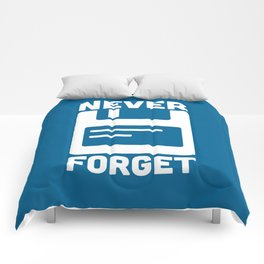Never Forget Floppy Disk Comforters