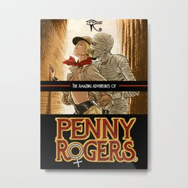 Penny Rogers and the Mummy Metal Print