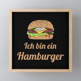 Ich bin ein Hamburger Framed Mini Art Print