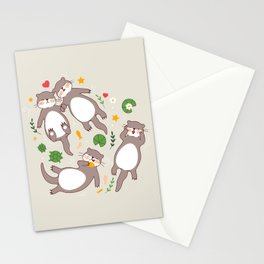 Significant otters Stationery Cards