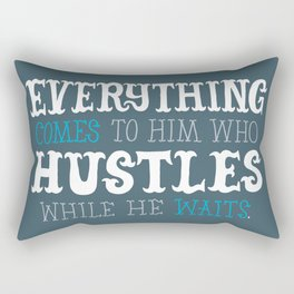 Hustle While You Wait Rectangular Pillow