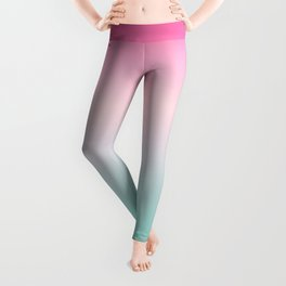Ombre gradient digital illustration pastel colors Leggings