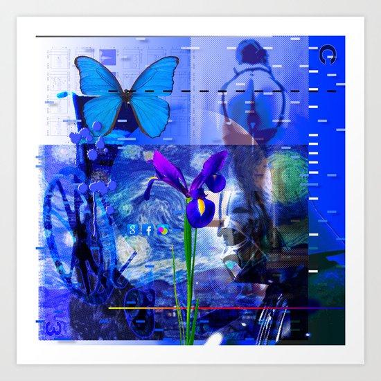 No Way No How < The NO Series (Blue) Art Print