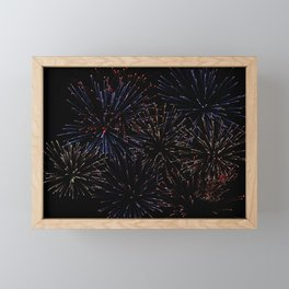 New Years Firework Texture Framed Mini Art Print