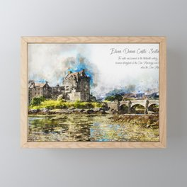 Eilean Donan Castle Aquarell Framed Mini Art Print