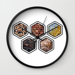 Settlers of Catan Resources Wall Clock
