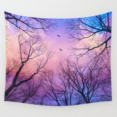 A New Day Will Dawn  (Day Tree Silhouettes) Wall Tapestry