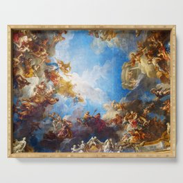 Ceiling painting in Hercules room of the Chateau de Versailles - France Serving Tray