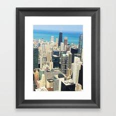 Chicago Buildings Color Photo Framed Art Print