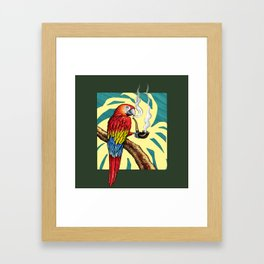 Smokin parrot .... where is my pipe ??? Framed Art Print