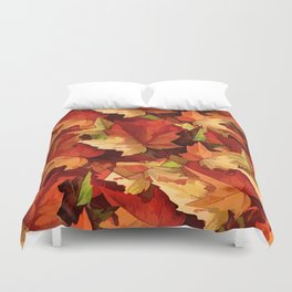 Autumn Leaves Abstract - Painterly Duvet Cover