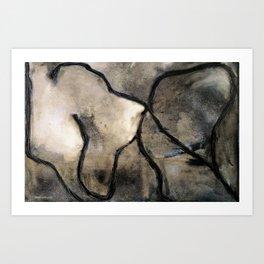 Sahara (oil on canvas) Art Print