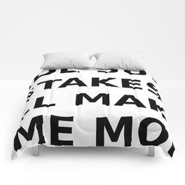 Have been making errors Comforters