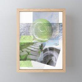 garden steps Framed Mini Art Print