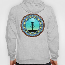 Disc Golf Abstract Basket 5 Hoody