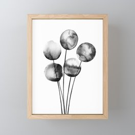 five balloons, watercolor Framed Mini Art Print