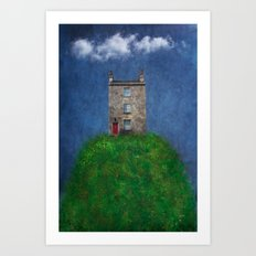 House on a hill Art Print