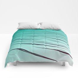 lines blue - elements Comforters