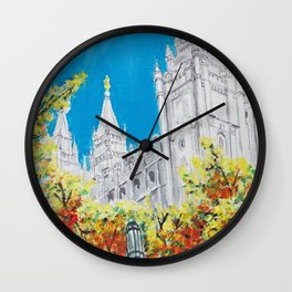 Salt Lake City Utah LDS Temple Wall Clock