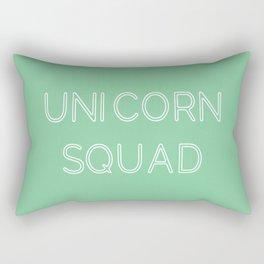 Unicorn Squad - Mint Green and White Rectangular Pillow