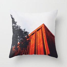 New York Orange Throw Pillow