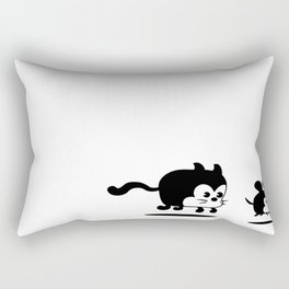 The Endless Cat and Mouse Chase Rectangular Pillow