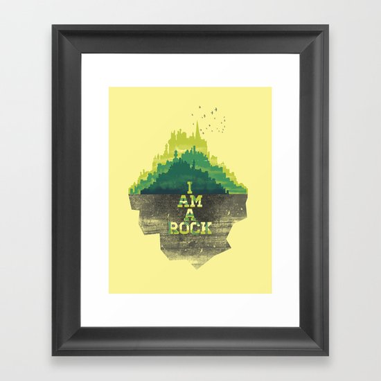 I am a Rock Framed Art Print