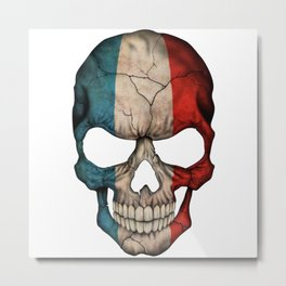 Exclusive France skull design Metal Print