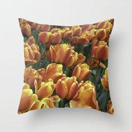 Orange Tulips at Tulip Festival Throw Pillow