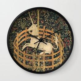 The Unicorn In Captivity Wall Clock