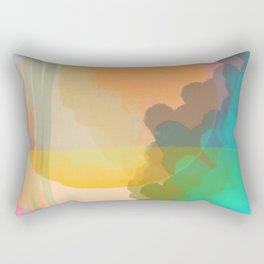 Shapes and Layers no.10 - Sun, Waves, Clouds, Sky abstract Rectangular Pillow