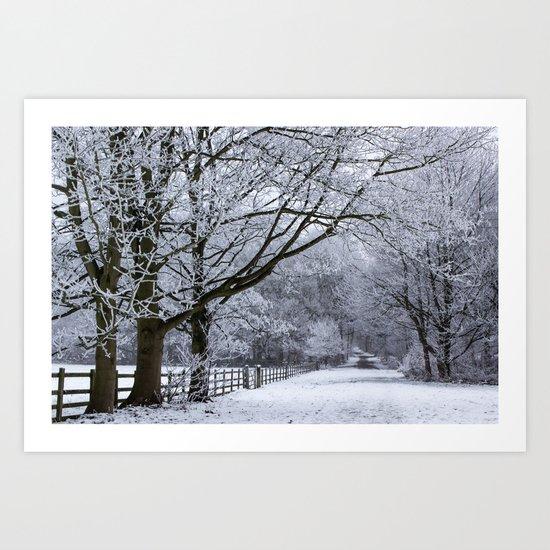 A Winters Lane Art Print