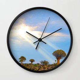 Quiver Tree Forest, Namibia, Africa Wall Clock
