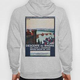 Descente du Rhône, French Travel Poster Hoody